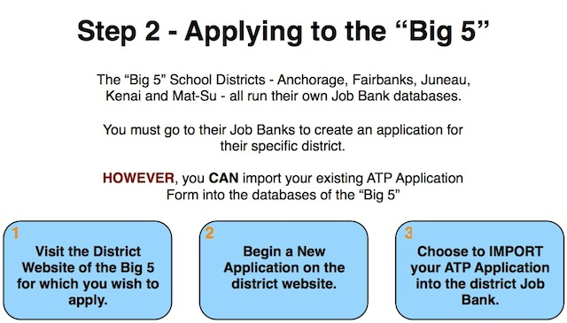 Big 5 Application Process